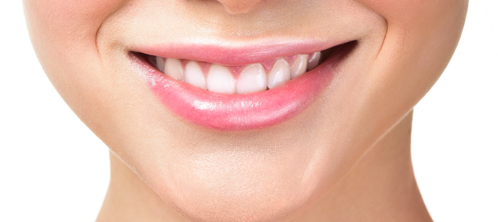 Closeup of a woman's smile